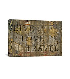 iCanvas Live Love Travel by Diego Tirigall Canvas Print