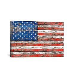 iCanvas USA Vintage Wood by Diego Tirigall Canvas Print