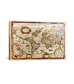 Vintage Map by Diego Tirigall Canvas Print