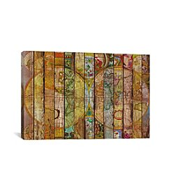 iCanvas Around the World in Thirteen Maps by Diego Tirigall Canvas Print