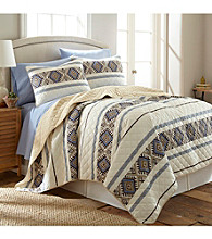 Shavel Home Products Micro Flannel® Lodge Stripe 3-pc. Quilt Set