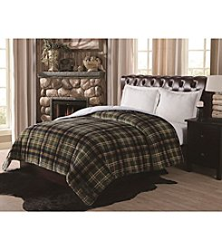 Remington® Supreme Velvet Green Plaid Comforter