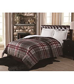 Remington® Ultra Velvet Grey Plaid Comforter
