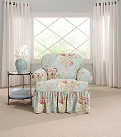 Sure Fit® Waverly Ballad Bouquet Chair T-Cushion Slipcover