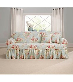 Sure Fit® Waverly Ballad Bouquet Loveseat or Sofa T-Cushion Slipcover