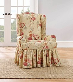 Sure Fit® Waverly Ballad Bouquet Wing Chair Slipcover