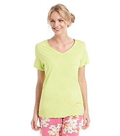 HUE® Pajama V Neck Top