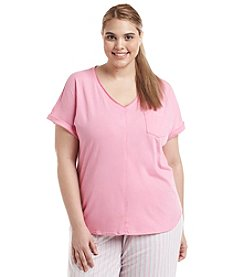 KN Karen Neuburger Plus Size Pajama V-Neck Top