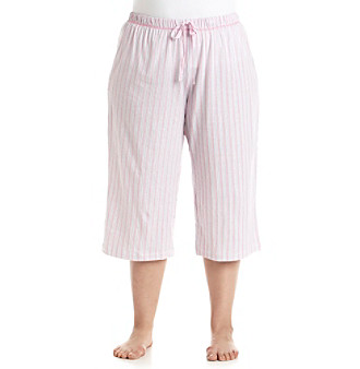 KN Karen Neuburger Plus Size Printed Pajama Capris plus size,  plus size fashion plus size appare