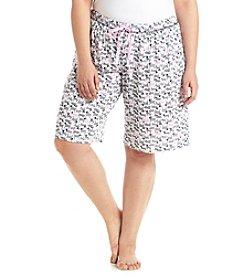 KN Karen Neuburger Plus Size Printed Bermuda Shorts