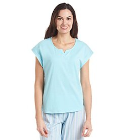 KN Karen Neuburger Capped Sleeve Pajama Top