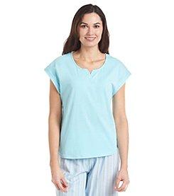 KN Karen Neuburger Capped Sleeve Pajama Top