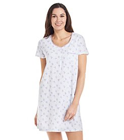 KN Karen Neuburger Printed Henley Nightgown