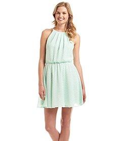 Sequin Hearts® Chevron Blouson Dress