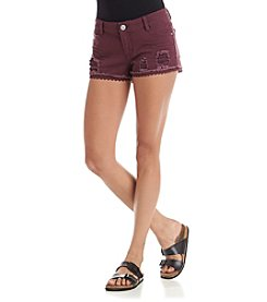 Hippie Laundry Crochet Hem Destructed Shorts