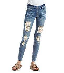 Hippie Laundry Crochet Inset Skinny Jeans