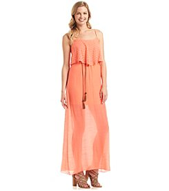Trixxi® Gauze Popover Maxi Dress