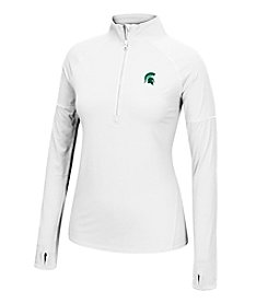 J. America® NCAA® Michigan State Spartans Women's Sprint Long Sleeve Half Zip Pullover