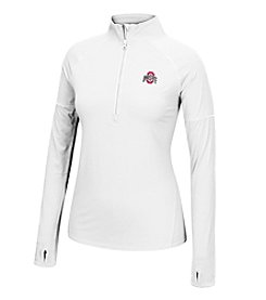 J. America® NCAA® Ohio State Buckeyes Women's Sprint Long Sleeve Half Zip Pullover