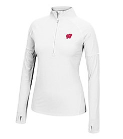 J. America® NCAA® Wisconsin Badgers Women's Sprint Long Sleeve Half Zip Pullover