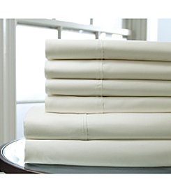 Elite Home Products Solid 820-Thread Count Cotton Rich 6-Pc. Sheet Set