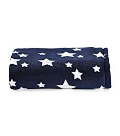LivingQuarters Navy Star Micro Cozy Throw