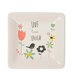 Pavilion Gift Company® Live Love Laugh Ceramic Dish