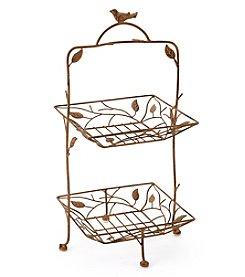 LivingQuarters Botanical Collection Metal Basket