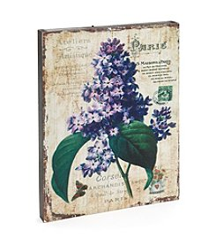 LivingQuarters Botanical Collection Purple Lilac Wall Art