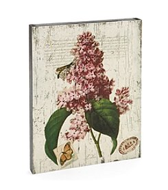 LivingQuarters Botanical Collection Pink Lilac Wall Art