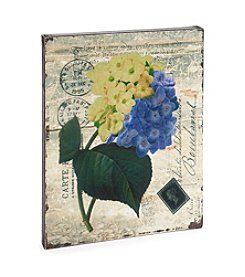 LivingQuarters Botanical Collection Hydrangea Wall Art