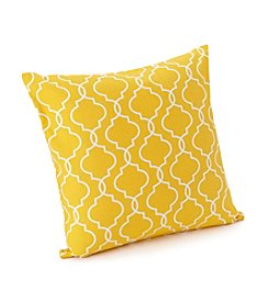 LivingQuarters Botanical Collection Trellis Print Pillow