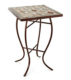 LivingQuarters Lake Collection Square Slate Table