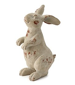 LivingQuarters Botanical Collection Rabbit Decor