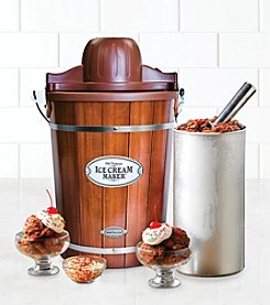 Nostalgia Electrics® Vintage Collection Old Fashioned 6-Qt Wood Bucket Ice Cream Maker