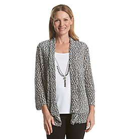 Alfred Dunner® Port Antonio Popcorn Layered Look Sweater