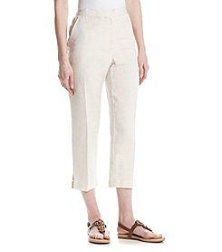 Ruby Rd.® Blush Crush Linen Capri