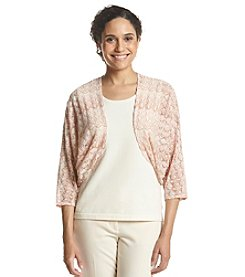 Ruby Rd.® Blush Crush Flame Stitch Stripe Shrug