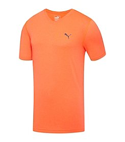 PUMA® Men's Essential V-Neck Short Sleeve Tee