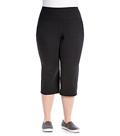 Exertek® Plus Size Wide Waistband Cropped Pants