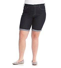 NYDJ® Plus Size Briella Roll Cuff Shorts
