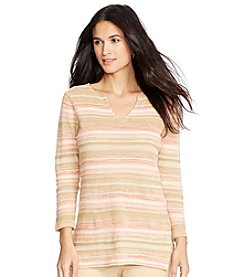 Lauren Jeans Co.® Striped Linen-Cotton Tunic