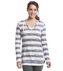 Exertek® Long Sleeve Striped Slub Hoodie