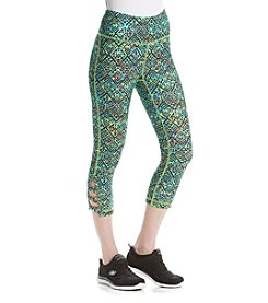 Exertek® Geometric Printed Crop Leggings