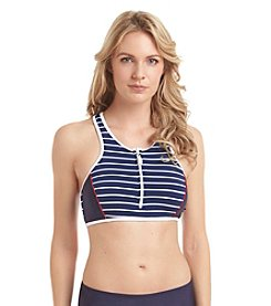 Nautica® Classic Stripe Sport Bra Bikini Top