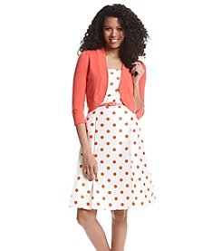 Madison Leigh® Floral Patterned Shantung Jacket Dress