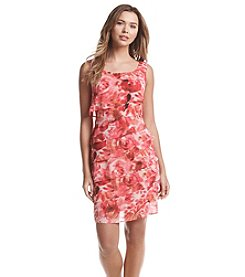 Connected® Floral Chiffon Sheath Dress
