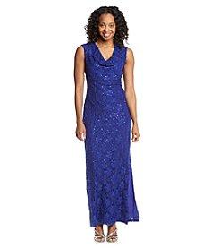 Connected® Petites' Lace Drop Neck Gown