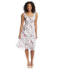 Connected® Petites' Floral Strap Chiffon Dress