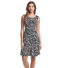 Connected® Geo Patterned Fit And Flare Dress